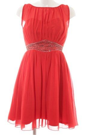 Little Mistress Vestido bustier rojo neón elegante