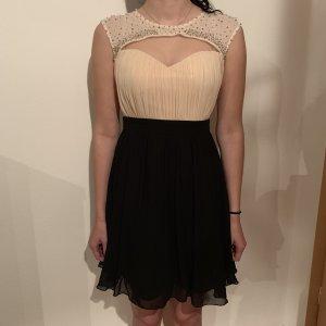 Little Mistress Abito con paillettes nero-crema