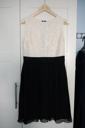 Little Mistress Kleid schwarz creme ecru M 40