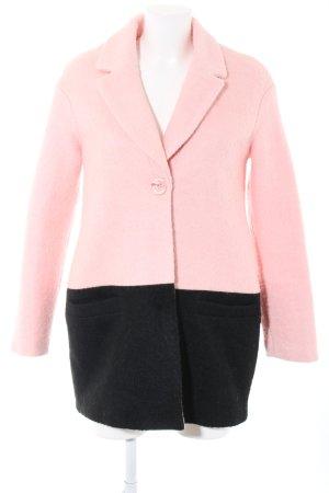 Little Mistress Kurzmantel pink-schwarz Business-Look