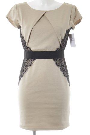 Little Mistress Minikleid beige-schwarz Elegant