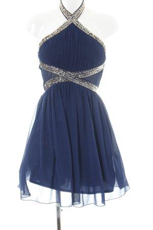 Little Mistress Halterjurk blauw elegant