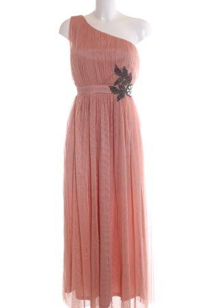 Little Mistress Vestido de un hombro rosa elegante