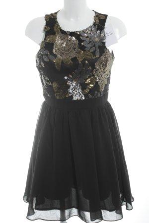 Little Mistress Pailettenkleid schwarz extravaganter Stil