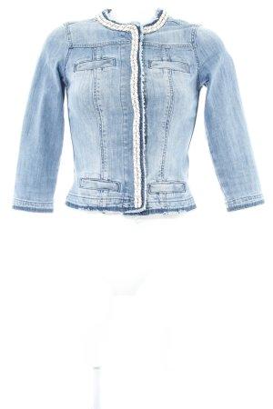 Liu jeans Jeansjacke stahlblau Washed-Optik