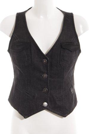 Liu jeans Denim Vest black casual look