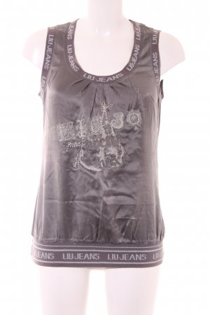 Liu jeans Strappy Top grey-silver-colored themed print elegant