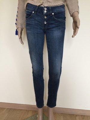 Liu jo Skinny Jeans dark blue-neon blue