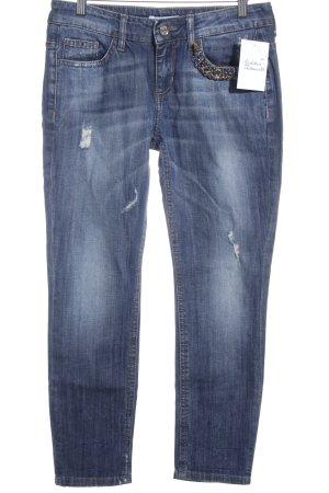 Liu jo 3/4 Jeans dunkelblau Glitzer-Optik
