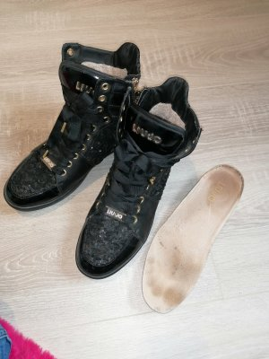 best sneakers 6978c 6f973 Liu jo Lace-Up Sneaker black-gold-colored