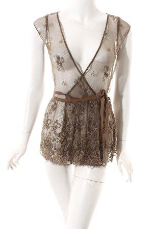 Liu jo ärmellose Bluse braun Street-Fashion-Look
