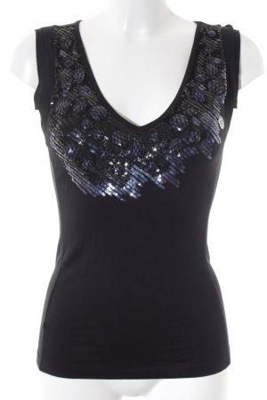Liu jo ärmellose Bluse schwarz-silberfarben Farbverlauf Elegant