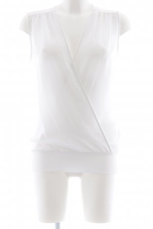 Liu jo Mouwloze blouse wit Webpatroon casual uitstraling