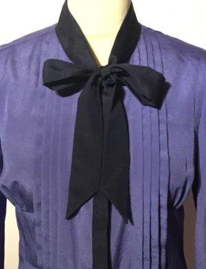 Liu jo Blusa collo a cravatta viola scuro-viola