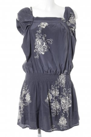 Liu jo Blouse Dress slate-gray-natural white flower pattern casual look