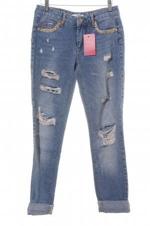 Liu jo Boyfriend Jeans blue wet-look