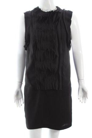 Liu jo Cocktailkleid schwarz Volantbesatz