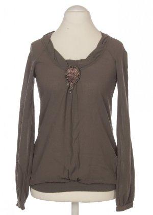 Liu jo Cuello de blusa marrón grisáceo Lana