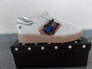 Liu Jo Echtleder Sneaker weiß/rose Gr.39 neu