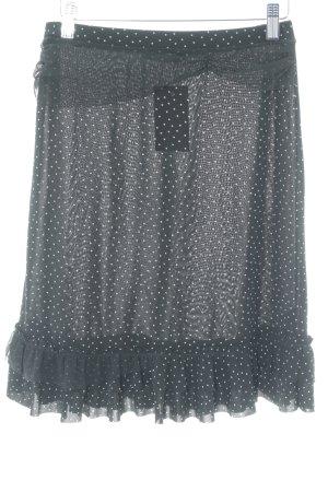 Liu jo Godet Skirt black-white spot pattern classic style