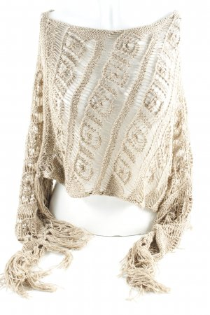 Liu jo Crochet Scarf camel-silver-colored layered look