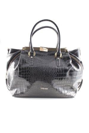 Liu jo Handbag black tortoise pattern casual look
