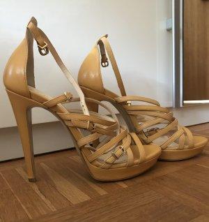 Liu Jo High Heels Sandalen Plateau Schuhe mit Riemchen Größe 39 gelb *neu*