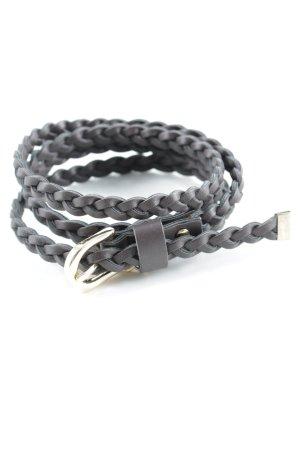 Liu jo Cinturón de cadera marrón oscuro punto trenzado estilo minimalista