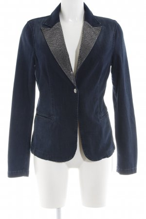 Liu jo Denim Blazer blue-silver-colored business style