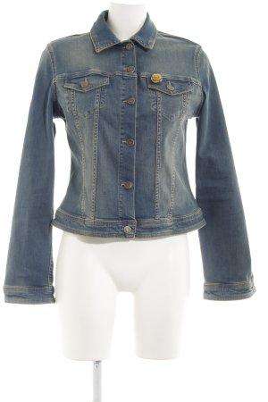 Liu jo Denim Jacket steel blue-sand brown color gradient jeans look