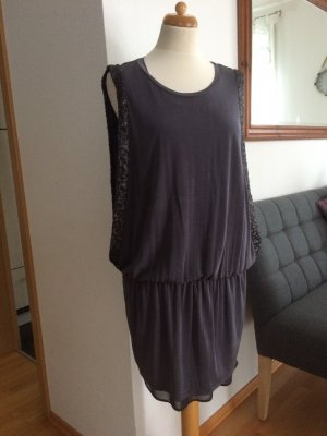 Liu Jo Kleid  mit Pailetten grau Größe XL