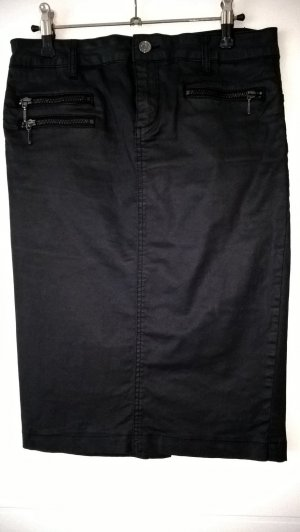 Liu jo Falda de cuero de imitación negro lyocell