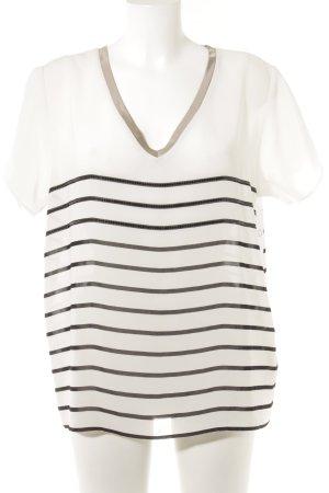 Liu jo Kurzarm-Bluse weiß-schwarz Streifenmuster Casual-Look