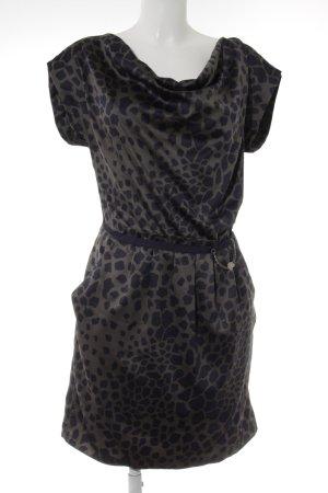 Liu jo Kurzarmkleid khaki-dunkelblau Animal-Look