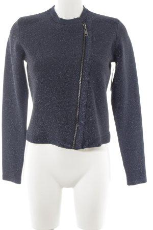Liu jo Short Jacket dark blue-silver-colored metal look