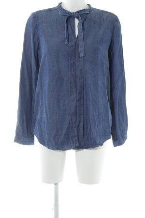 Liu jo Langarm-Bluse blau Street-Fashion-Look