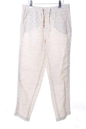 Liu jo Pantalone di lino bianco sporco motivo a pallini stile casual