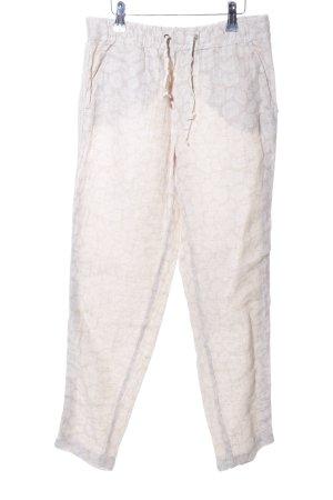 Liu jo Linen Pants natural white-white allover print casual look