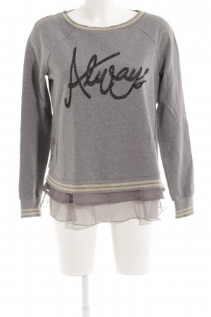 Liu jo Long Sweater grey printed lettering casual look