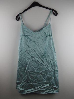 Liu Jo Marken Träger Kleid Milano V-Ausschnitt + BH Türkis Eisblau Party Cocktail Luxus Couture Italien Neu mit Etikett S 36