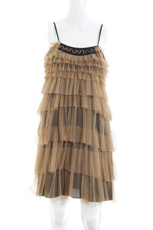 Liu jo Mini Dress camel-black extravagant style