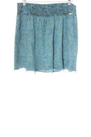 Liu jo Mini-jupe bleu azur-jaune foncé motif floral style décontracté