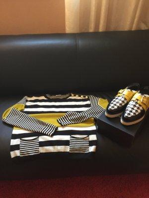 Liu Jo Pulli Pullover Neu goldene Hardware Zipper Taschen Knöpfe