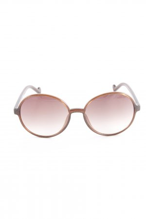 Liu jo runde Sonnenbrille braun Glitzer-Optik