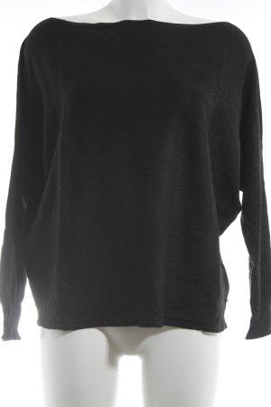 Liu jo Rundhalspullover schwarz minimalistischer Stil