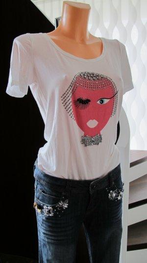 LIU JO Shirt mit Straß Gr. 36/38 ital.42 TOP Zustand!! NP 129,-€
