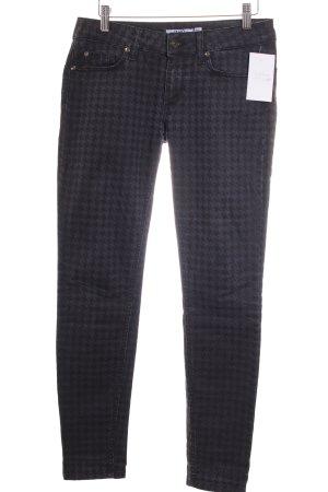 Liu jo Skinny Jeans dunkelblau-schwarz Hahnentrittmuster Street-Fashion-Look