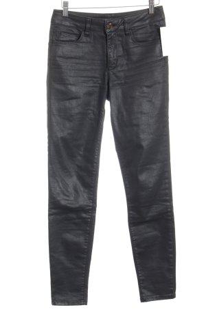Liu jo Skinny Jeans schwarz Glanz-Optik