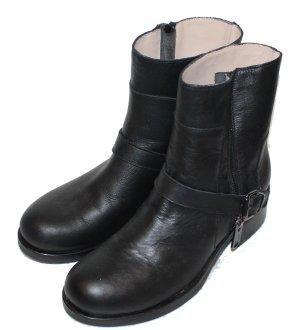 LIU JO STIEFELETTEN BOOTIES schwarz Leder Gr. 38