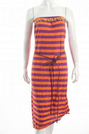 Liu jo Strandkleid orange-lila Ringelmuster Beach-Look